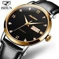 JSDUN модные часы мужские часы Топ Бренд роскошные механические часы золотые черные мужские спортивные часы Reloj Hombre Relogio Masculino