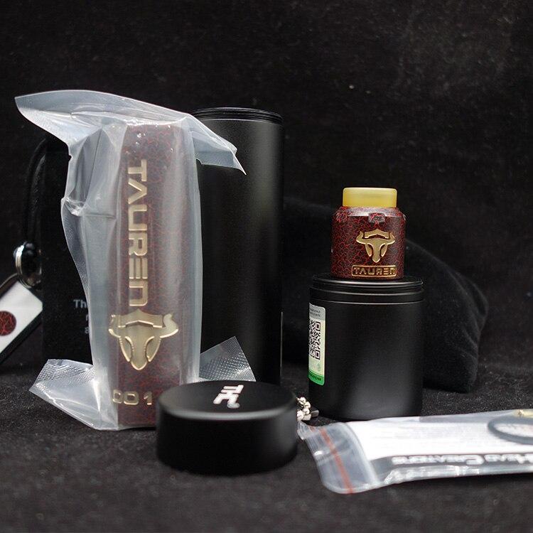 Chaud 21700 20700 THC Tauren Mech Mod Kit avec THC atomiseur pour 18650 batterie VS Vgod Mech Pro Elite Mod Kit de démarrage
