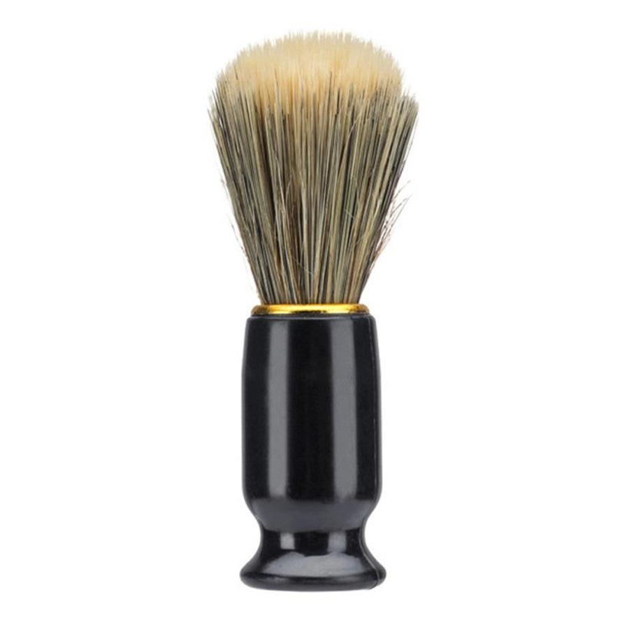 New Barber Brush 1pc Professional Men Shaving Bear Brush Best Nylon Hair Shave Wood Handle Razor Barber Tool Black
