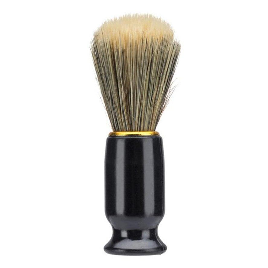 New Barber Brush 1pc Professional Men Shaving Bear Brush Best Nylon Hair Shave Wood Handle Razor Barber Tool Black