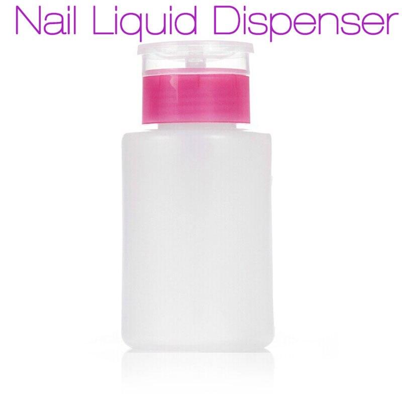 New Empty Pump Dispenser Nail Polish Liquid Alcohol Remover Cleaner ...
