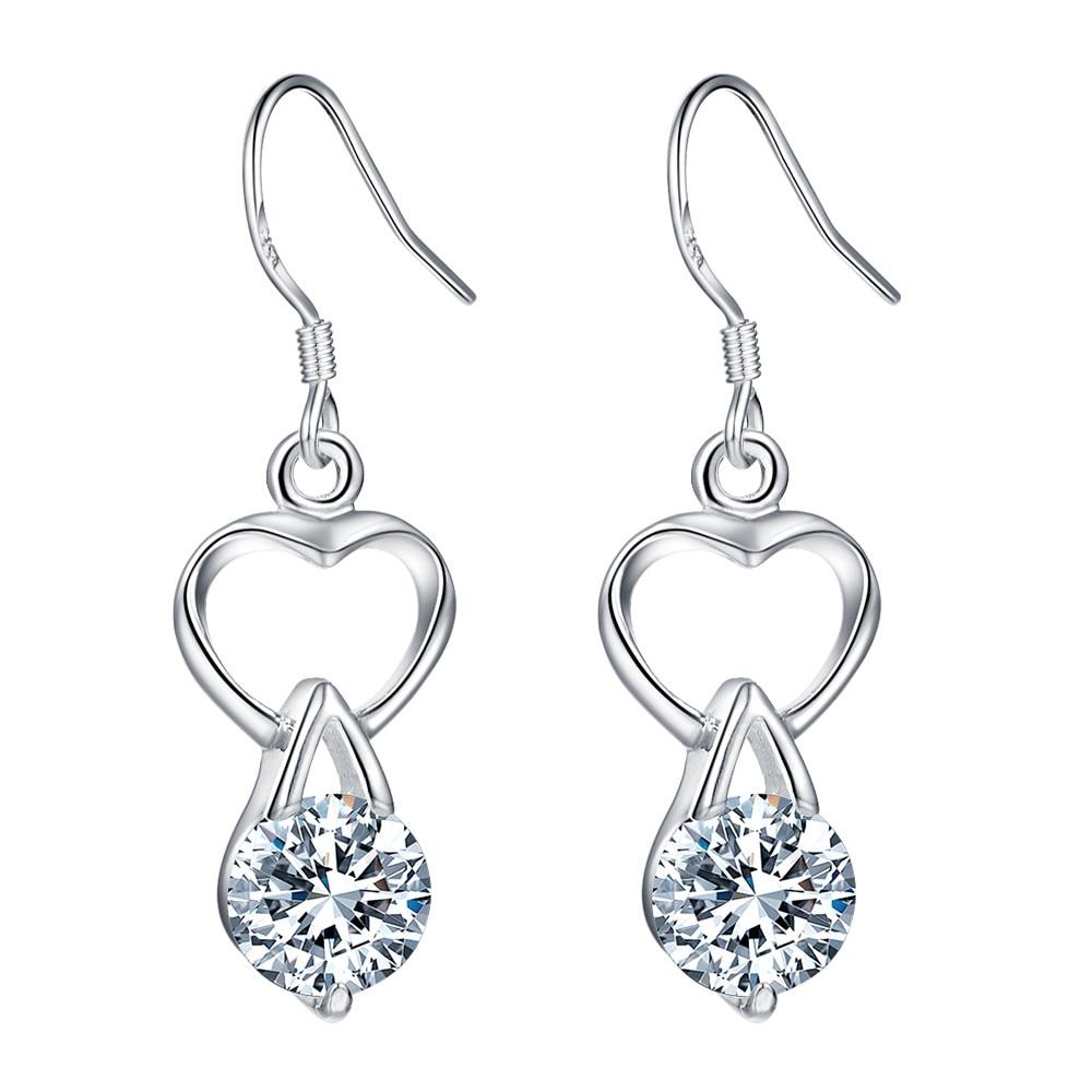f15007ac3763 Es-ae487 clásico plateado 925 joyería Pendientes para las mujeres al por  mayor envío gratuito joyería de moda corazón de la burbuja