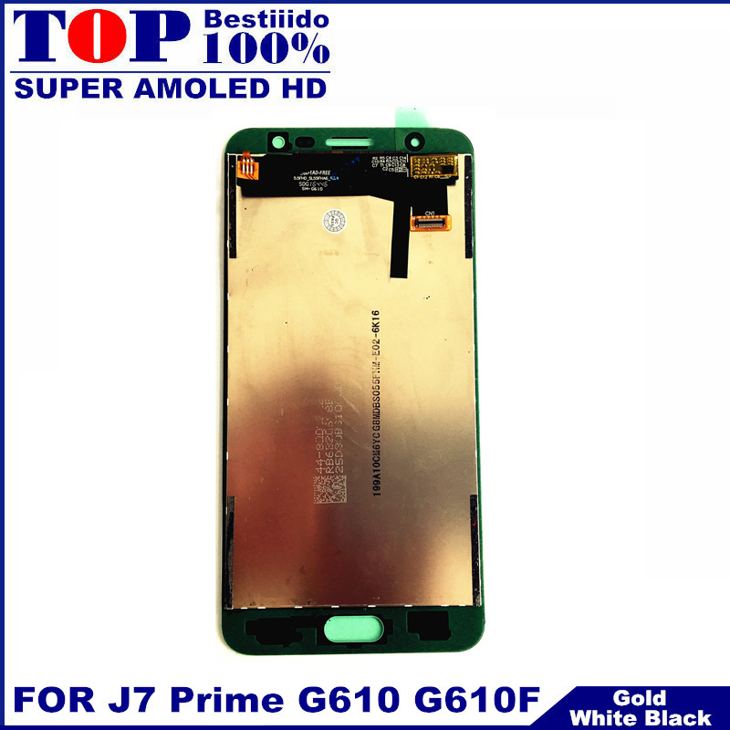 imágenes para 100% LCD para la Galaxia J7 Primer Trabajo LCD G610F G610K G610L G610Y G610S Teléfono Pantalla LCD de Pantalla Táctil Digitalizador asamblea