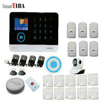 Smart YIBA WiFi GSM GPRS RFID Home Security Alarm System Housen Surveillance Security System Wireless IP Camera Smoke sensor .
