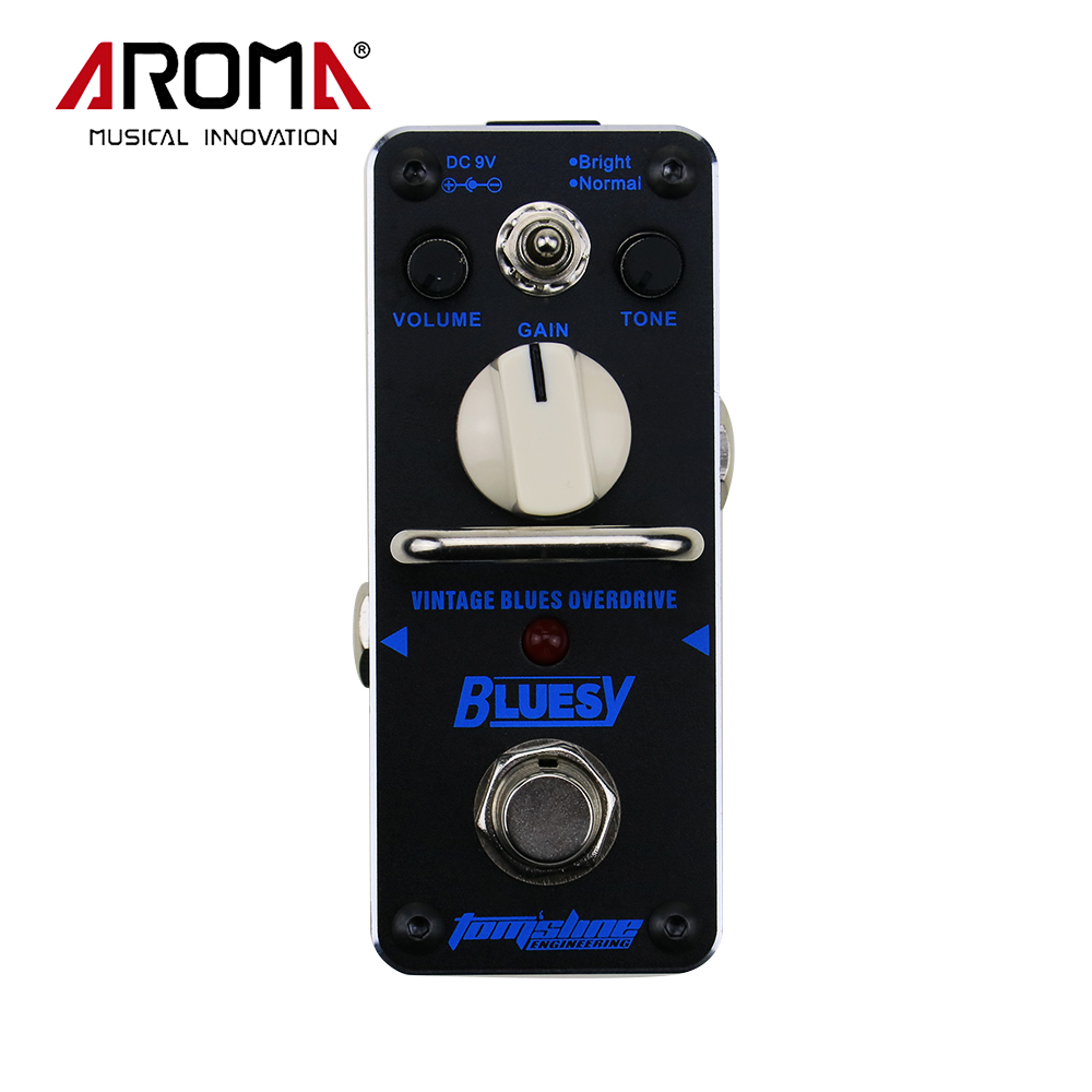AROMA ABY-3 Bluesy Vintage Blues Overdrive Mini Single Electric Guitar Effect PedalWith True Bypass aroma adr 3 dumbler amp simulator guitar effect pedal mini single pedals with true bypass aluminium alloy guitar accessories