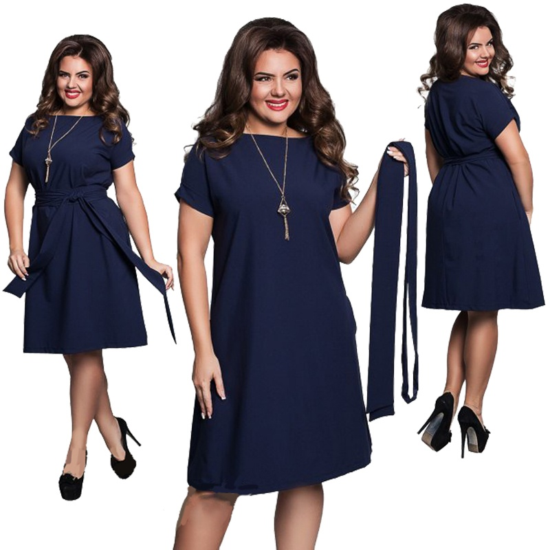 5098ead89c Elegant Casual Women Dresses Big Size Plus Size Dresses Women's ...