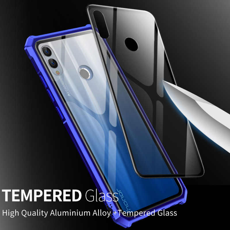 Metal Aluminum frame For Huawei Honor 10 Lite Case Luxury Back Transparent Glass Case for Honor 10 Lite Cover Cases Bumper Coque