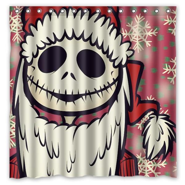 2016 Jack Skellington Waterproof Polyester Shower Curtain Mildewproof Bath Curtains Cortinas Para Banheiro 180x180CM