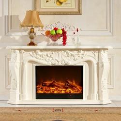 Chimenea de madera para decoración de sala de estar, chimenea, repisa W148cm, chimenea eléctrica, inserto LED, llama artificial óptica