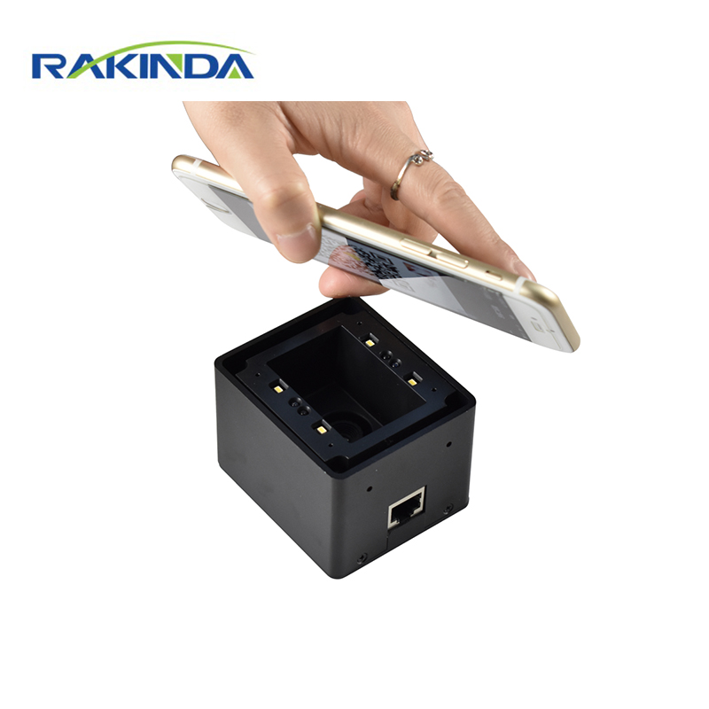 Rakinda LV4500L 15~80cm Long Distance Fixed Mount 2D Barcode Scanner Phone Screen Paper QR Code Reader for Parking System