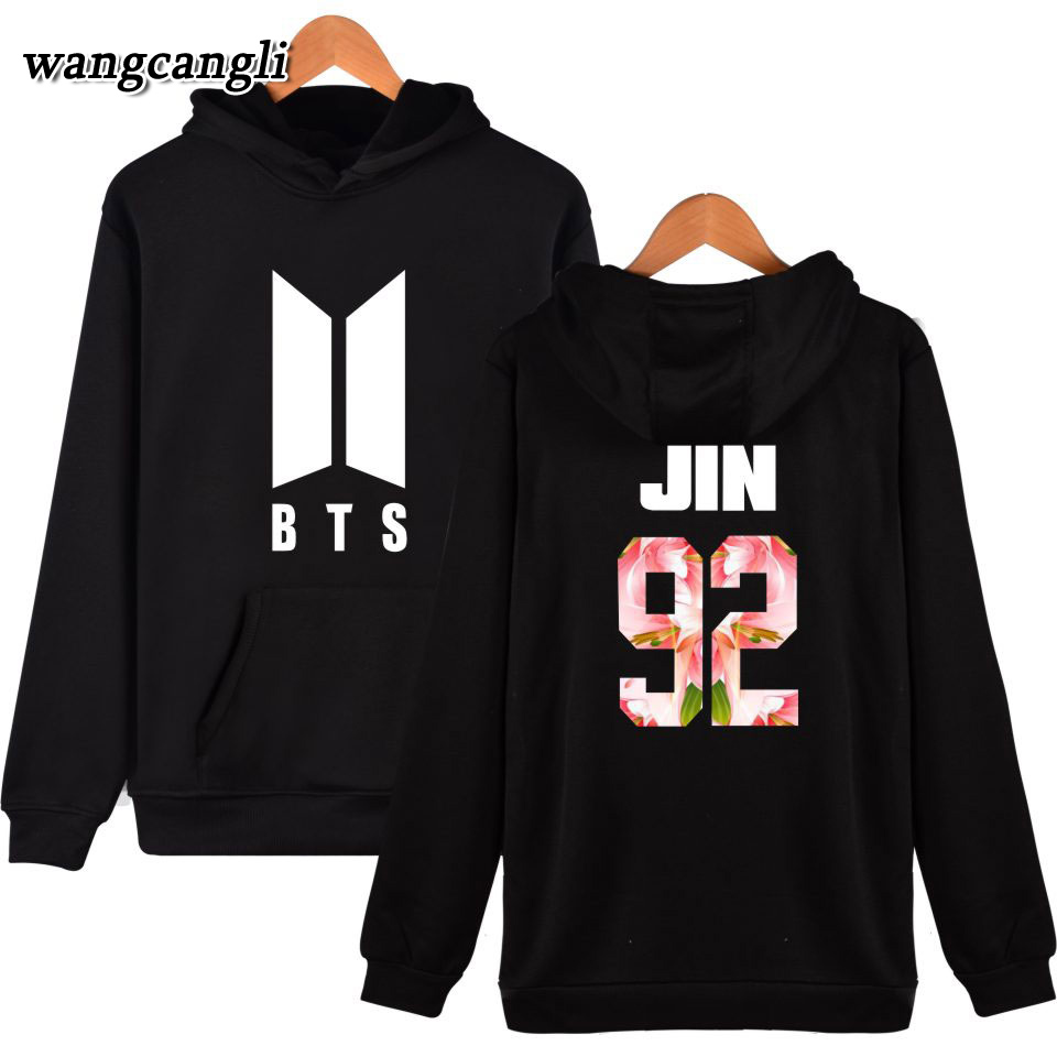 BTS Bangtan Boys Kpop Moletom korean Hoodies Women/Men Hip Hop Sweatshirt Hoodie Pullover Female Fans Casual Winter Jacket coat