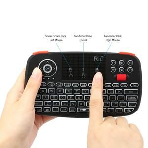 Image 5 - Rii i4 Mini Bluetooth Tastatur 2,4 GHz Dual Modi Handheld Griffbrett Backlit Maus Touchpad Fernbedienung für Windows Android