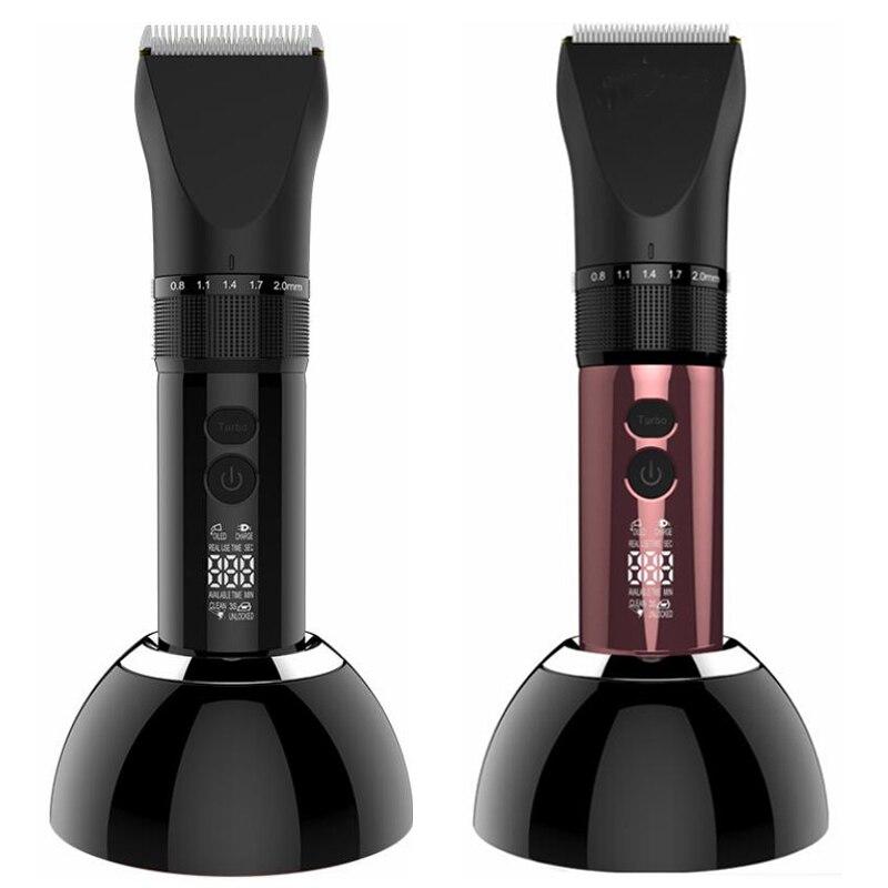 Tondeuse à cheveux électrique professionnelle lame en titane 2000mA batterie tondeuse à barbe pour hommes Machine de coupe de cheveux pour Salon