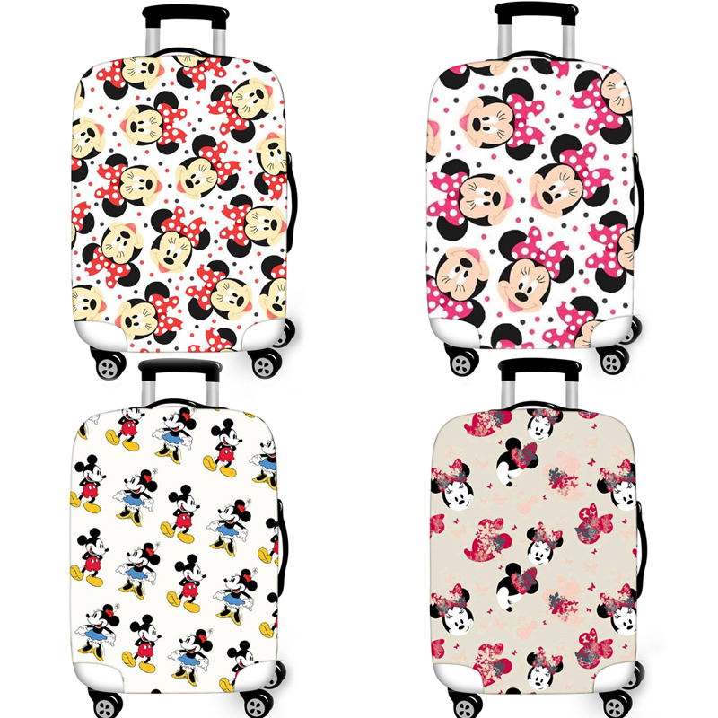 Minnie Mickey Elastic Luggage Protective Cover Case For Suitcase Protective Cover Trolley Cases Covers Xl Travel Accessories T28