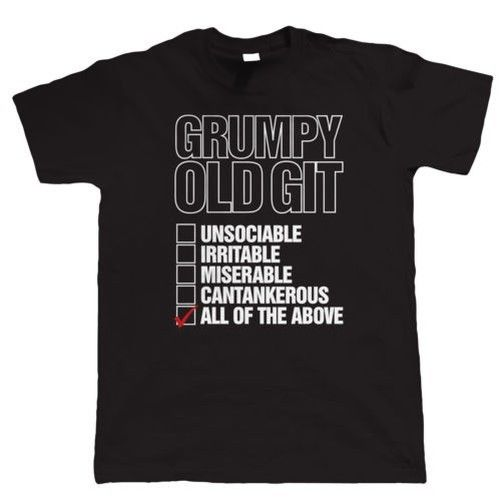 Grumpy old git checklist, funny t shirt for men