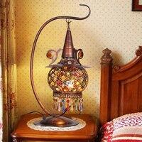Богемные металлические настольные лампы Хрустальная бронзовая лампа Тайвань железная спальня лампа Богемия Юго Восточный Средиземноморс