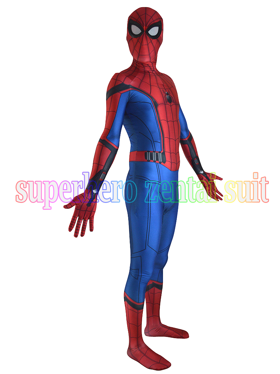 2017 Newest Movie Spider-Man Homecoming Costume Cosplay Halloween Spiderman Homecoming Costumes Spidey Bodysuit Hot Sale