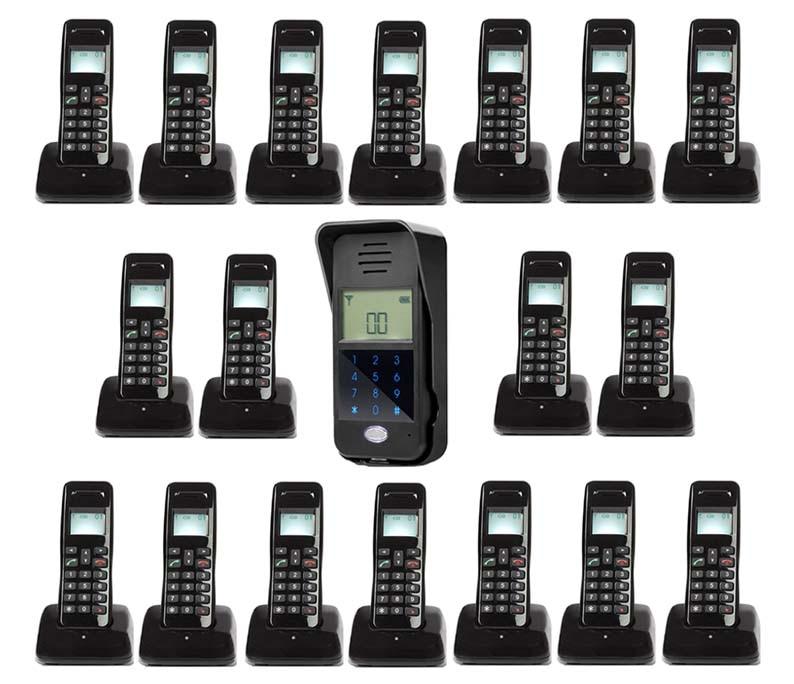 Passwort Entsperren/intercom System Für 18-wohnungen Heller Glanz Mountainone Neue Arrivial Drahtlose Digitale Audiio Tür Telefon Audio Intercom Türsprechstelle
