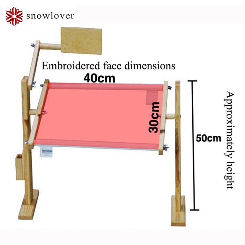 adjustable solid wood cross stitch rackwooden stand desktop cross stitch embroidery framechinese