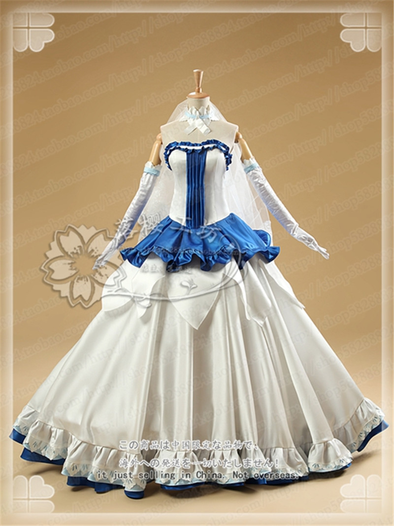 2017Sword Art Online SAO ALO Game Wedding Dress Autumn Winter Cosplay Costume High Quality O