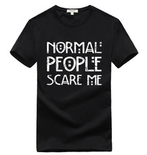 2016 mode les gens normaux me font peur streetwear hip hop drôle t shirts Hommes T-Shirt Tops T-shirts marque mince mma pp yezzus(China (Mainland))