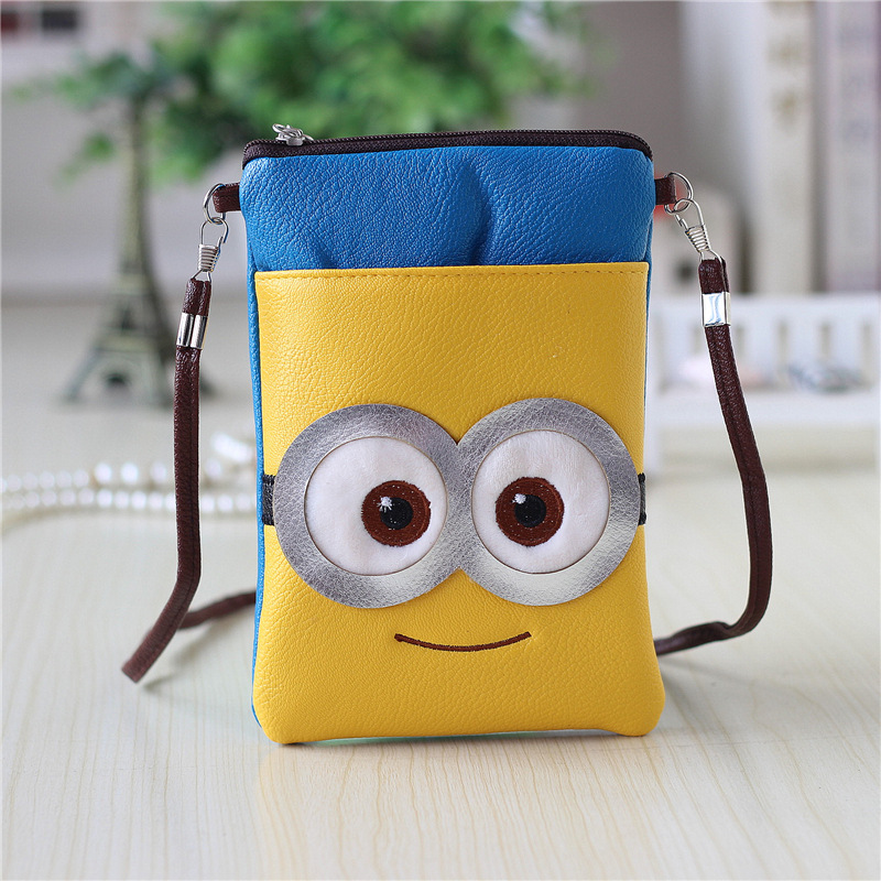 Ladies Leather Purse For Women Cute Minion Despicable Me Wallets Brand Design High Quality Children's Purse Minion Phone Bag newest ly 4040 co2 laser engraving machine 50w laser tube laser cutting machine free tax to russia