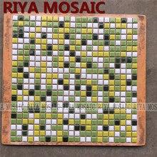 Free Shipping RIYA green ceramic mosaic small grain background wall bathroom kitchen pool swimming 11pcs/lot