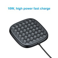 Baseus Luxury Grid Pattern Wireless Charger Ultra Thin TPU QI Wireless Charger 10W Fast Wireless Charging Pad For iPhone Samsung 3