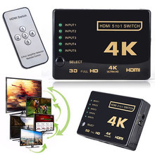 Ultra HD 4k 2k with remote control hdmi three-in-one-out 3-in-1 display switcher control adapter converter(China)