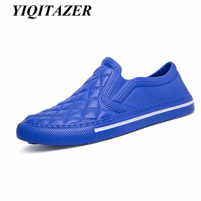 YIQITAZER 2018 Nice Home Summer Slippers Zapatos de hombre, piso interior y exterior PVC Funny Beach Soft Light Slipony Mocasines Hombre