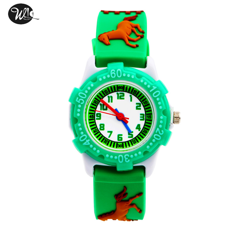 Children's Watch 3D Strap Cartoon Boy Girl Pony Quartz Watch Pointer Electronic Waterproof Watch Child Gift Watch