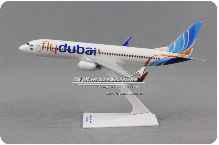 20cm Resin B737-800 Dubai Airlines Airplane Model FlyDubai Boeing 737  Aircraft Airways Airbus Model