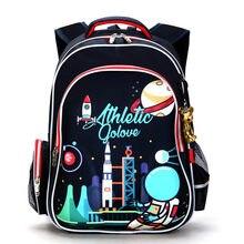 b2b60a8cadb68 DELUNE rosja styl wodoodporny ortopedyczne plecak torby szkolne dla chłopców  Cartoon samochody tornister Ultralight dzieci tornister