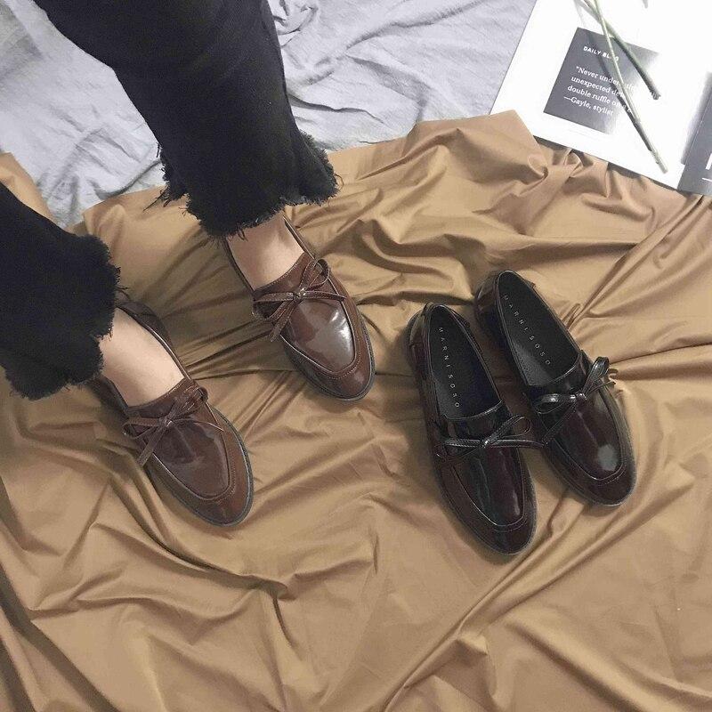 2019 Pisos Oxford Mocasines Genuino Vintage Planos Encaje Para De Las Mujeres Zapatos Nuevas Cuero Casual Retro Mujer zFxOzYqrw