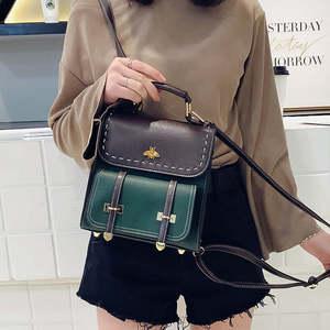 Image 4 - Mochila Vintage de cuero Pu para mujer, estilo Simple Preppy, famosa mochila universitaria, mochilas para mujer