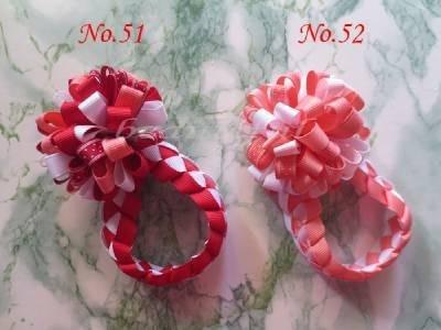 """12 шт. модные милые плетеные петельные пуховки ленты 2,"""" заколка для волос 96 N"""