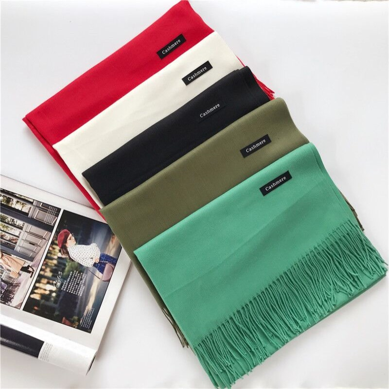 a24240573e27 Best buy Hot Sales Scarf Women Solid Color Cashmere Scarves With Tassel  Lady Winter Thick Warm Scarf High Quality Female Echarpe Homme online cheap