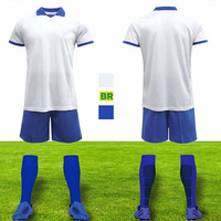 2020 Soccer Uniforms blank Customize Football Jerseys Soccer Kit Youth Kids Football Training Set Boys Sports Suit with socks
