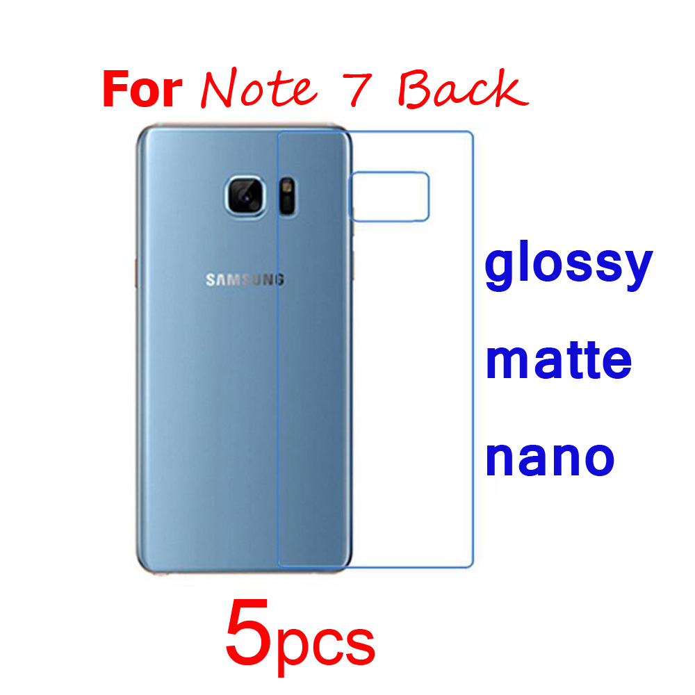 5pcs Screen Protector Clear/matte/Nano Anti-Explosion Protective Films for <font><b>Samsung</b></font> <font><b>Galaxy</b></font> Note 7 Note7 Front <font><b>or</b></font> Back Guard Film