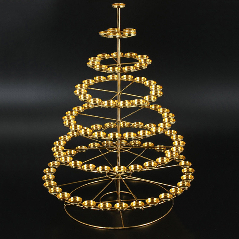 Special Shape 7 Tiers Of Butter Lamp Candle Holder Could Put Total 108pcs Candles Buddha Supply