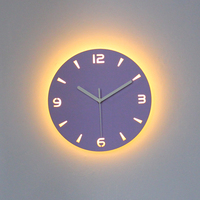 LED Wall Clock Modern Design Clocks with Backlight Watch Silent for Home Kitchen Office Cafe Decoration for Wall