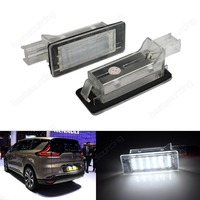 2X Canbus LED License Number Plate Light For Renault Duster Logan MCV White Fits Renault Scenic