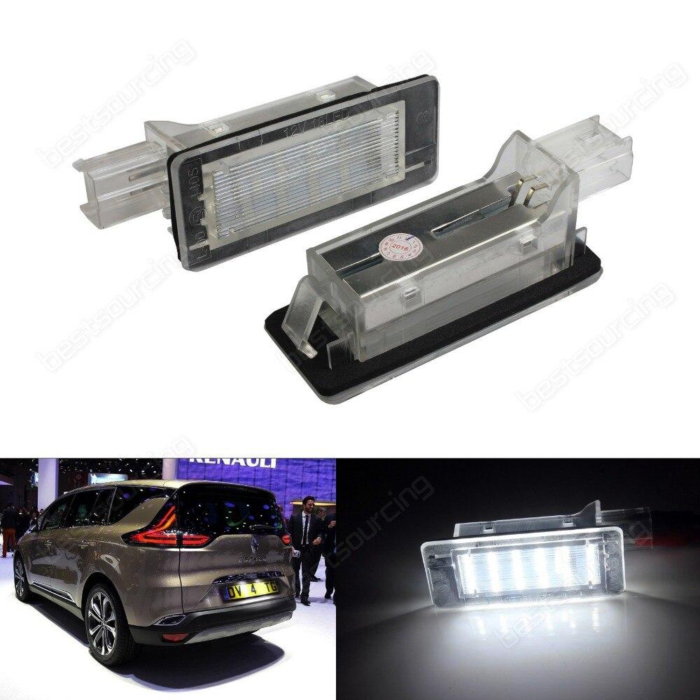 2X Canbus LED Nombre de Plaque D'immatriculation Pour Renault Duster Logan MCV Blanc (Adapte: Renault Scenic) (CA325)