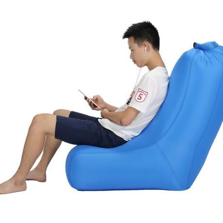 inflatable camping chair narrow desk beach chairs outdoor garden furniture polyester portable ultralight beanbag chaise de plage pliante