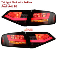 for Audi A4 A4L A4L B8 LED tail lamps 2008 2012 year Black with Red Bar Replacement for Original with LED tail lights models