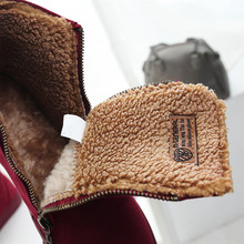 Women Ankle Snow Boots Female Flock Zipper Winter Sneakers Warm Plush Women Casual Shoes Sapato Feminino