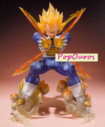 Boxed Japanese Anime Cartoon Dragon Ball Z Super Saiyan Fighting Vegeta Action figure