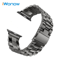 3 Pointer Stainless Steel Watchband For Apple Watch IWatch 38mm 42mm Band Wrist Strap Bracelet Adapters