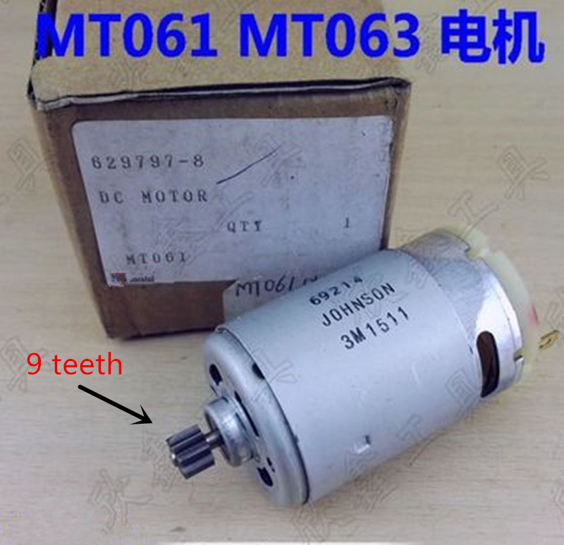 9 Teeth DC Motor Replacement for Maktec MT060SK2 MT061SK2 MT062SK2 MT063SK2 MT064SK2 MT061 Cordless Drill Driver maktec mt607