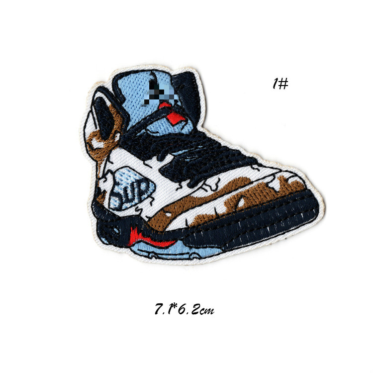 b9bed6125 Sports Sneakers Cute Iron on Embroidered Patch for Clothing Cool Biker  Patch Clothes Stickers Sewing Applique for Jeans Backpack-in Patches from  Home ...